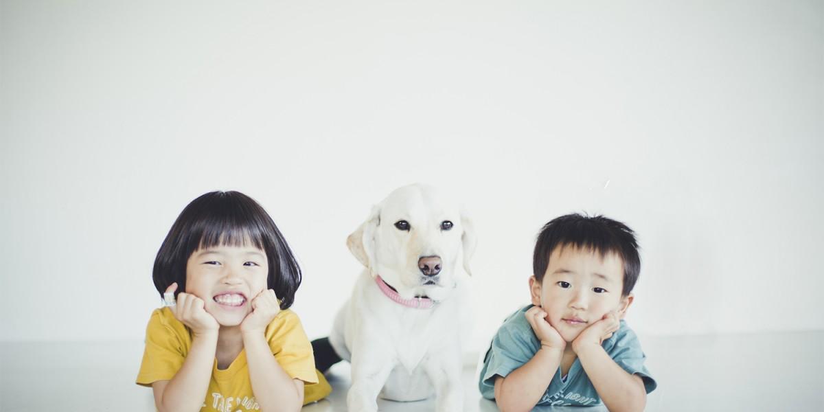 犬と記念撮影