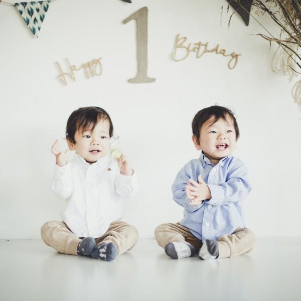 双子撮影 双子の赤ちゃん